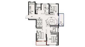 金象朗诗红树林 4室2厅2卫 126平方米 精装