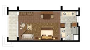 金牛湖度假中心 1室1厅1卫 56.67平方米 毛坯