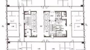 元枫国际大厦 1室 110平方米 毛坯
