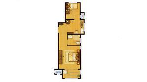 天乐湖 2室1厅1卫 66平方米 精装