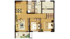 新江北孔雀城 3室2厅1卫 85平方米 精装