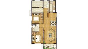 新江北孔雀城 3室2厅2卫 100平方米 精装