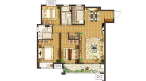新江北孔雀城 3室2厅2卫 120平方米 精装