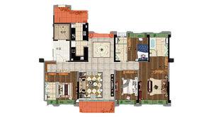 碧桂园欧洲城 4室2厅2卫 185平方米 精装