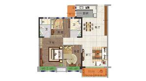 碧桂园欧洲城 3室2厅2卫 117平方米 精装