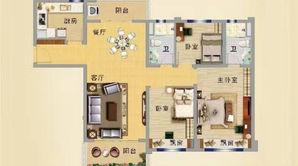 碧桂园凤凰城 3室2厅2卫 125平方米 精装