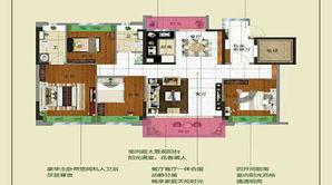 碧桂园十里春风 4室2厅2卫 140平方米 精装