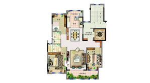 碧桂园紫龙府 3室2厅2卫 125平方米 精装