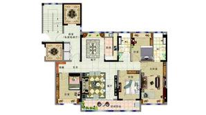 碧桂园紫龙府 4室2厅2卫 140平方米 精装