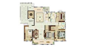碧桂园紫龙府 4室2厅2卫 190平方米 精装