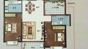 国建理想城 4室2厅1卫 100.86平方米 毛坯
