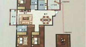国建理想城 4室2厅2卫 133.98平方米 毛坯