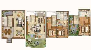 新城源山 3室4厅4卫 165平方米 毛坯