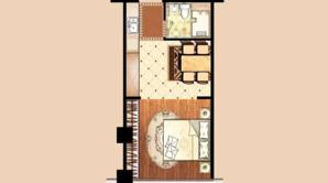 九州大厦 1室1厅1卫 48平方米 精装