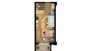 泰达青筑 1室1厅1卫 30平方米 精装