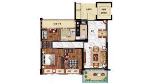 碧桂园公园雅筑 3室2厅1卫 95平方米 精装