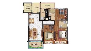 碧桂园公园雅筑 3室2厅2卫 118平方米 精装