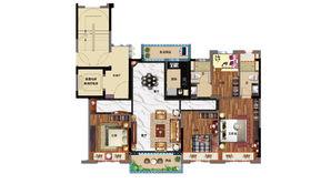 碧桂园公园雅筑 4室2厅2卫 130平方米 精装