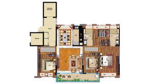 碧桂园公园雅筑 4室2厅2卫 145平方米 精装
