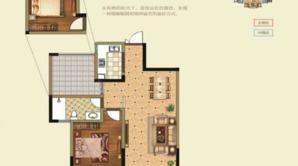 恒基九里蓝湾 2室2厅1卫 80平方米 毛坯