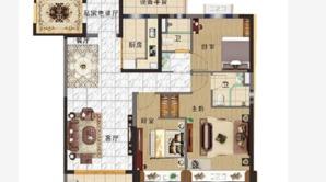 碧桂园奥能罗马世纪城 3室2厅2卫 117平方米 毛坯