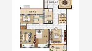 碧桂园奥能罗马世纪城 3室2厅1卫 93平方米 毛坯