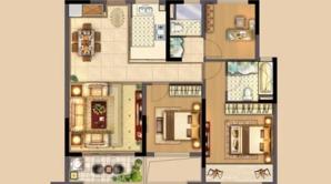 中南·熙悦 3室2厅1卫 105平方米 精装