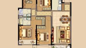 中南·熙悦 4室2厅2卫 126平方米 毛坯