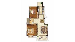紫晶美域 2室2厅1卫 87平方米 毛坯