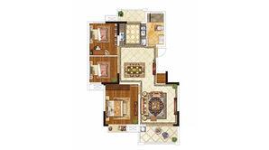 紫晶美域 3室2厅1卫 98平方米 毛坯