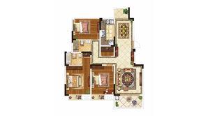 紫晶美域 3室2厅2卫 120平方米 毛坯