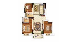 紫晶美域 3室2厅2卫 121平方米 毛坯
