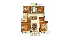 紫晶美域 4室2厅2卫 130平方米 毛坯