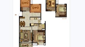 明发·北站新城 3室2厅1卫 85平方米 毛坯