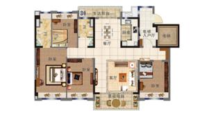 碧桂园北岸世家 4室2厅2卫 140平方米 精装
