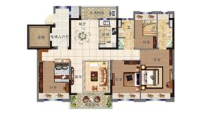 碧桂园北岸世家 4室2厅2卫 125平方米 精装