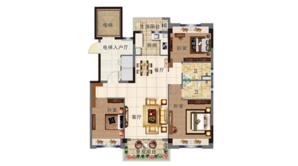 碧桂园北岸世家 3室2厅2卫 115平方米 精装