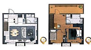 宝隆时代广场 2室2厅2卫 62平方米 毛坯