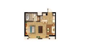 弘阳时代中心 1室1厅1卫 50平方米 精装