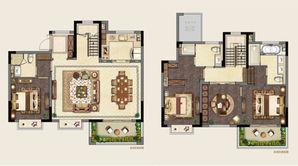 新城璞樾和山 4室2厅3卫 169平方米 毛坯