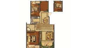 紫晶大公馆 3室2厅1卫 91平方米 毛坯