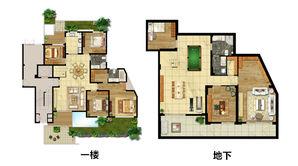 骋望云邸 5室4厅3卫 319.52平方米 毛坯