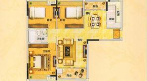 银润金陵赋 3室2厅1卫 110平方米 毛坯