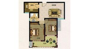山鹰双城汇 2室2厅1卫 79平方米 毛坯