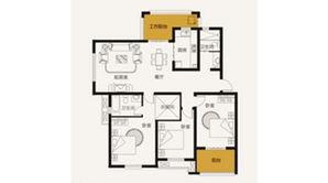 山鹰双城汇 3室2厅2卫 139平方米 毛坯