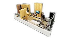 苏宁紫金嘉悦 1室1厅1卫 34.37平方米 精装