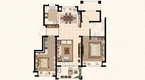 远洋山水 3室2厅1卫 89平方米 毛坯
