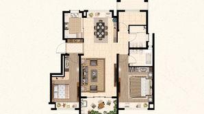 远洋山水 3室2厅2卫 105平方米 毛坯