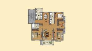 金汇康郡 4室2厅2卫 136平方米 毛坯