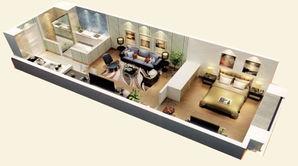 恒大雅苑 1室1厅1卫 60平方米 精装